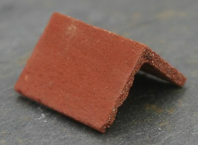 50 1:12th Real Brick Victorian Red Angled Ridge Tiles for Dolls Houses & Models