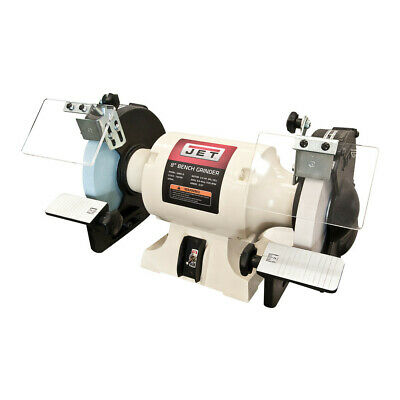 """JET 8"""" 1/2 HP Tool Bench Grinder with Norton Wheels 726100 New"""