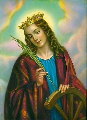Catholic Print Picture ST. CATHERINE ALEXANDRIA Martyr - ready to be framed