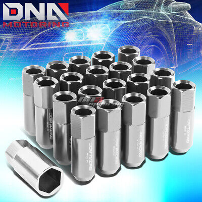 20 Pcs Silver M12X1.5 Extended Wheel Lug Nuts Key For Camry/celica/corolla