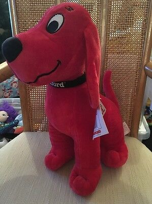 "CLIFFORD THE BIG RED DOG  Plush Stuffed Animal KOHL'S CARES 14"" tall"
