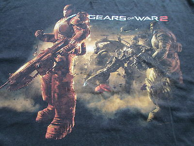 Gears Of War 2 Video Game Black T Shirt L Large XL X-Large