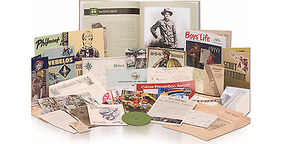 BOY SCOUTS OF AMERICA A CENTENNIAL HISTORY COLLECTORS BOOK w DVD POSTER REPLICAS