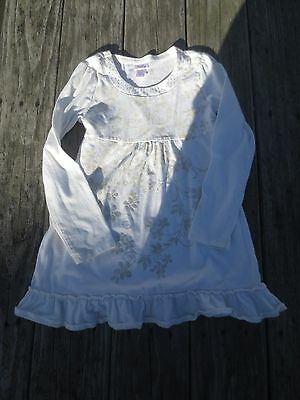 Justice ~ Girls Ivory Flowy Floral Shirt ~ Size 8