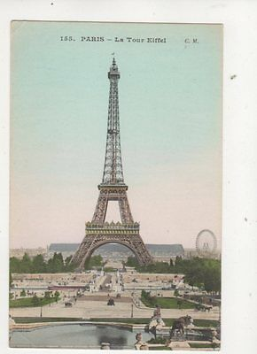 Paris La Tour Eiffel France Vintage Postcard 361b