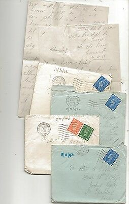 WW2 Anti Aircraft Artillery Regiment 1943 Truro Cornwall Letters to Spalding