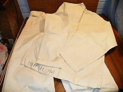 Vintage WWII US NAVY White Crackerjack Uniform Pants & Shirt