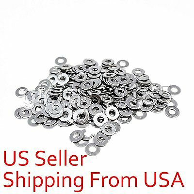 100 pcs M4 4mm 304 Stainless Steel Metric Flat Washer Washers New