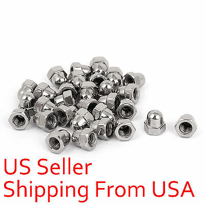 12 pcs M6 6mm DIN1587 Acorn Dome Head Hex Nuts Metric A2 Stainless Steel New