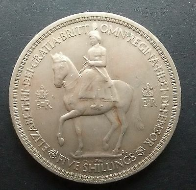 CORONATION CROWN 1953 - Queen Elizabeth II coin (five shillings)
