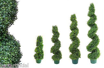Best Artificial Boxwood Buxus Topiario Espiral Exterior Twist Árboles alt Bay