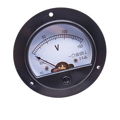 US Stock DC 0 ~ 150V Round Analog Volt Pointer Needle Panel Meter Voltmeter