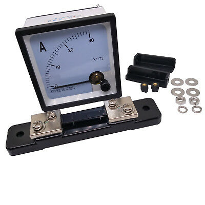 New DC 0 ~ 30A Analog AMP Current Needle Panel Meter Ammeter XT-72 & Shunt