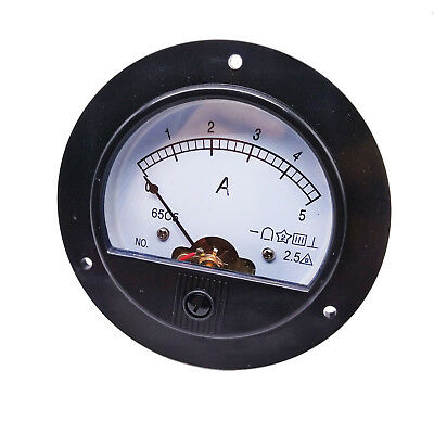 New DC 0 ~ 5A Round Analog AMP Current Pointer Needle Panel Meter Ammeter