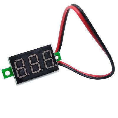 US Stock Mini size Red LED Volt Meter 4.5V~30V For 12V 24V Doesn't Require Power