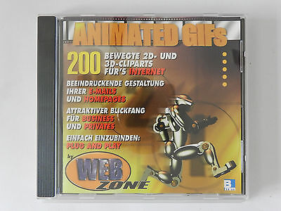 PC CD-ROM Animated Gifs 200 bewegte 2D 3D Cliparts fürs Internet