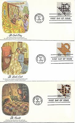 USA 1978 Quilts set of FDCs