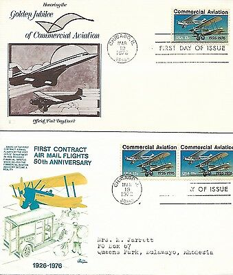 USA 1976 Commercial Aviation Jubilee FDCs