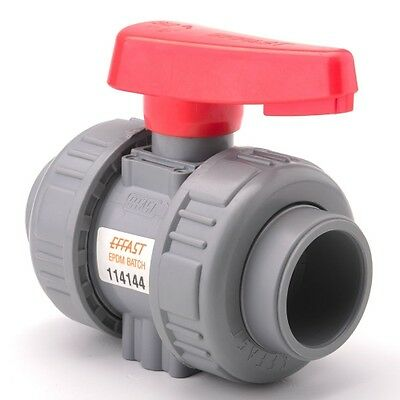 Industrial Double Union Ball Valve Grey uPVC Pipe Fitting Imperial
