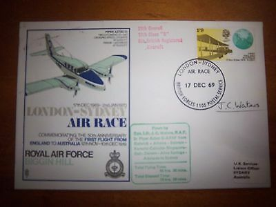 Raf S4  London - Sydney Air Race Squadron Leader J.c Walters Signed Flown  Cover