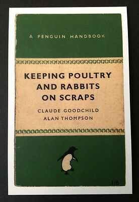 POSTCARDS FROM PENGUIN - KEEPING POULTRY AND RABBITS ON SCRAPS - Cover Postcard