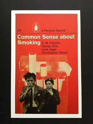 POSTCARDS FROM PENGUIN - COMMON SENSE ABOUT SMOKING - Cover Postcard