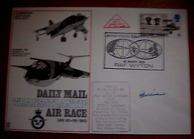 RAF S1e DAILY MAIL TRANSATLANTIC AIR RACE Sqd Ldr WILLIAMS SIGNED FLOWN COVER