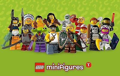 Lego 8803 Series 3 Minifigures Complete Set 16 Figures Packets & Leaflets Rare