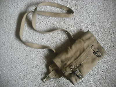 A Used Bren Gun Ww2 British Canvas Spare Parts Tool Bag  Canadian
