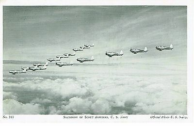 Ww2 Us Navy Squadron Of Scout Bombers Official Postcard Original