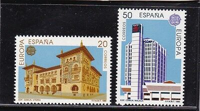Spain #2622-2623 Mnh Europa Cept 1990 (Post Offices)