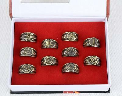 Naruto Akatsuki Members Sharingan Rings SET 10pc Cosplay Sasuke Kakashi ☆