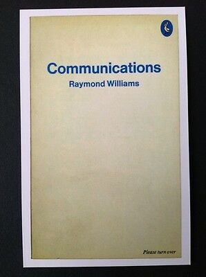 POSTCARDS FROM PENGUIN - COMMUNICATIONS by Raymond Williams - Cover Postcard