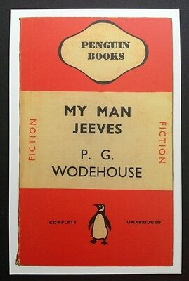 POSTCARDS FROM PENGUIN - MY MAN JEEVES by P. G. Wodehouse Cover Postcard - NEW