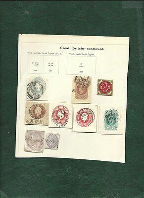 GB Disabled service 1914-15 War Seal, stationery cut-outs & 2 revenues