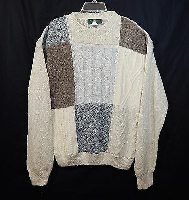 Orvis Mens Crewneck Sweater Xl X-Large Soft Cable Knit Shirt Casual Dress