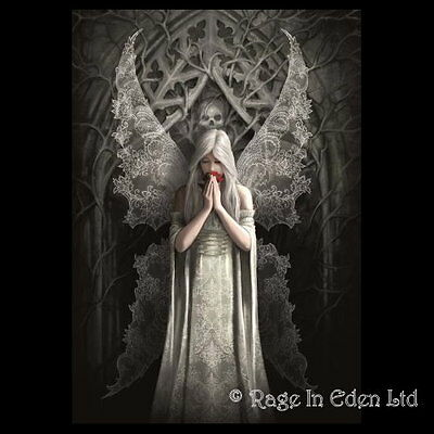 ONLY LOVE REMAINS Anne Stokes Fantasy Goth Angel Art Blank Greeting Card (AN81)