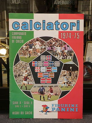 ALBUM figurine PANINI CALCIATORI 1974 75 calcio football