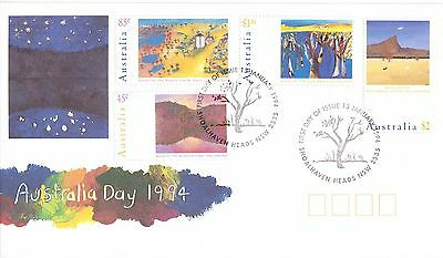 Australia 1994 Landscape Paintings Set Of 4 On Official First Day Cover