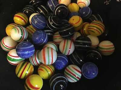 HOM Glass Marbles 20mm Handmade marble - Stripes 4 colors