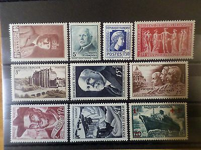 FRANCE, LOT AJ timbres années '40/'50, neufs** LUXE, MNH STAMPS