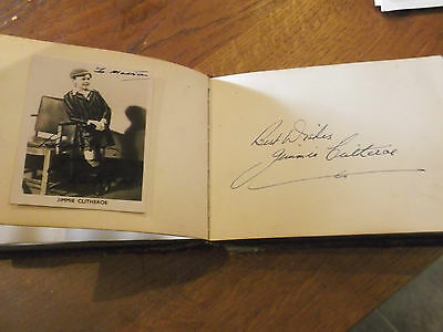 Autograph Book With  Signatures Of Stars Of  1950S Including Jimmie Clitheroe