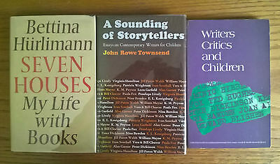 3 books children's literature: Sounding of Storytellers, Seven Houses, Writers