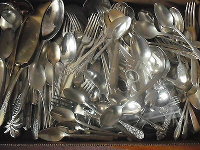150 Pc Mixed Lot Silverplate/Antique Flatware/Serving   #111