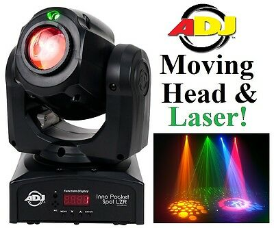 NEW American DJ Inno Pocket Spot LZR Moving Head & Cluster Laser Disco Effect
