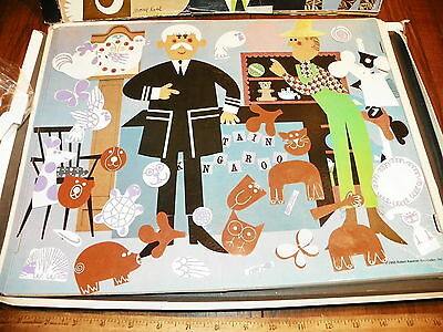 "1960 ""Captain Kangaroo And His Magic Zoo"" Colorforms                           *"