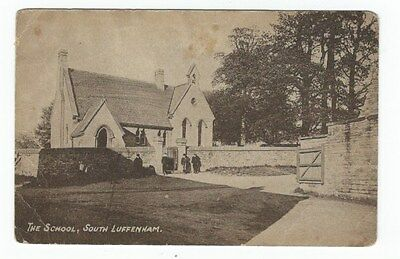 Postcard of the School published by Thurkettle in SOUTH LUFFENHAM RUTLAND