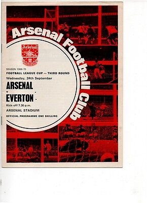 Arsenal v Everton 1969/70 League Cup 3rd round
