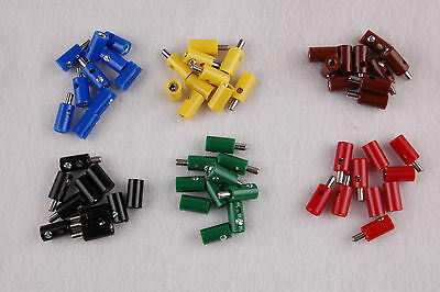 60 Pieces - Connector/Sleeves 2,6mm - sorted NEW