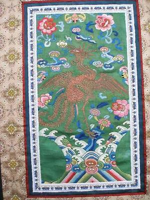 Stunning Antique Chinese Silk Embroidered Panel.